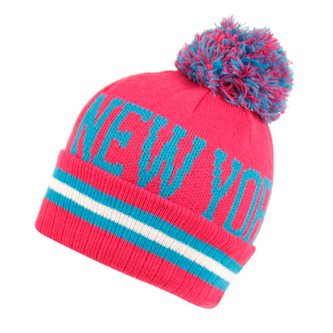 Wholesale Bulk Pack Beanies With Pompom/New York-GDP2758