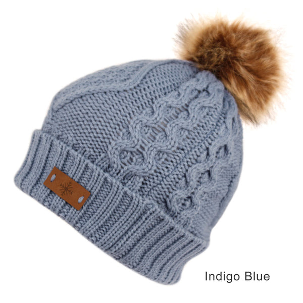 Wholesale Bulk Pack Solid & Multi Color Knit Beanie Hat With Pom Pom-GDP2909
