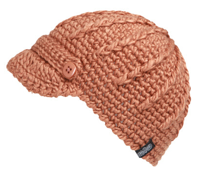 Wholesale Bulk Pack Winter Cable Knit Beanie With Small Brim Visor-GDP2746