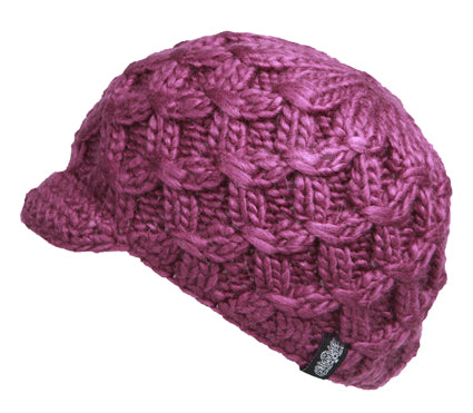 Wholesale Bulk Pack Winter Cable Knit Beanie With Small Brim Visor-GDP2752
