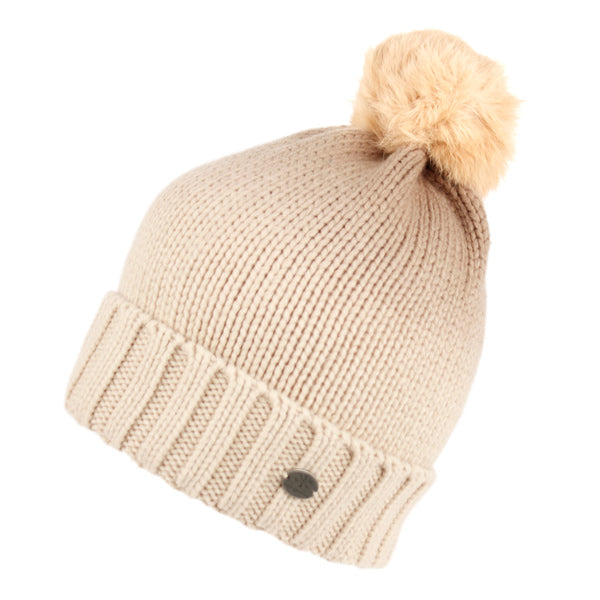 Wholesale Bulk Pack Tie-Die Cable Knit Beanie With Rabbit Fur Pom Pom-GDP2809