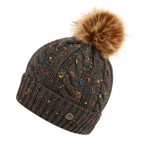 Wholesale Bulk Pack Cable Knit Beanie W/Pom Pom & Sherpa Lining-GDP2786