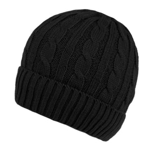 Wholesale Bulk Pack Men's Cable Beanie With Sherpa Fleece Lining-GDP2867