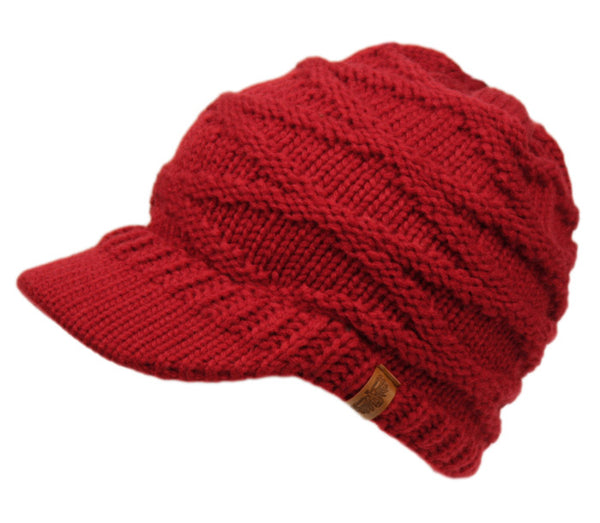 Wholesale Bulk Pack Ponytail Criss Cross Crochet Beanie Visor-GDP2983