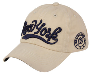 Wholesale Bulk Pack Cotton Baseball Cap With New York Logo-GDP2334