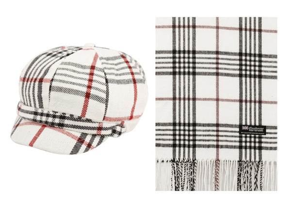 Wholesale Bulk Pack Cabbie Hats And Scarf Sets-GDP2079