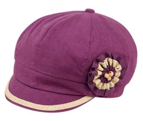 Wholesale Bulk Pack Cabbie Hats With Flower-GDP2074
