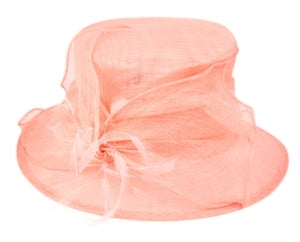 Wholesale Bulk Pack Sinamay Fascinator With Flower & Feather Trim-GDP1161