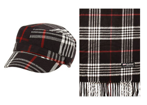 Wholesale Bulk Pack Cadet Hats And Scarf Sets-GDP2224
