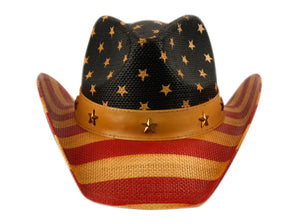 Wholesale Bulk Pack American Flag Cowboy Hats-GDP1118