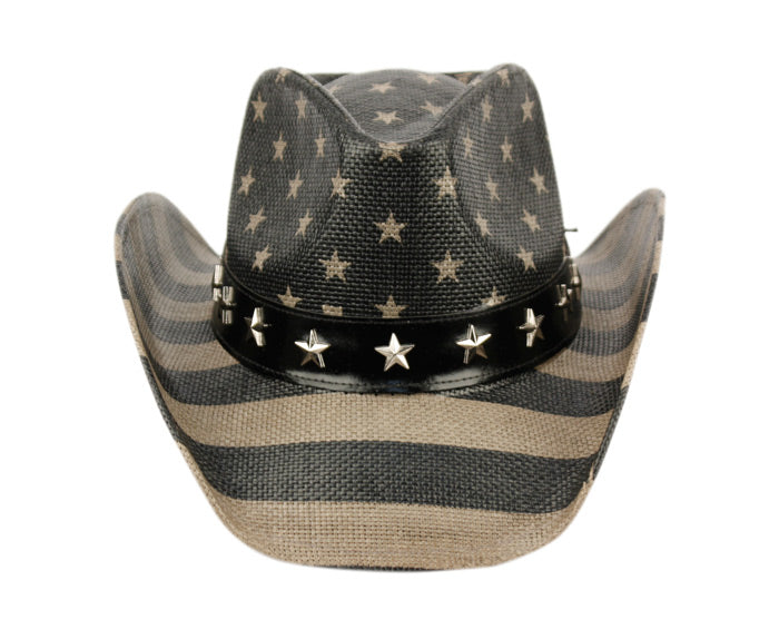 Wholesale Bulk Pack American Flag Cowboy Hats-GDP1111