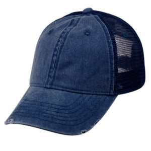Wholesale Bulk Pack Pigment Dyed Washed Cotton Trucker Cap With Mesh-GDP2546