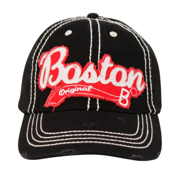 Wholesale Bulk Pack Vintage Cotton Baseball Caps With City Boston-GDP2423
