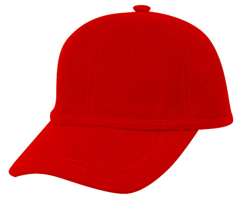 Wholesale Bulk Pack Wool Felt Plain Baseball Caps-GDP2540