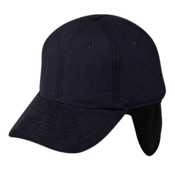 Wholesale Bulk Pack Quilted Six Panel Waterproof Cap W/Fleece Earflop-GDP2134