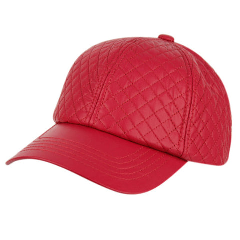Wholesale Bulk Pack Faux Leather Six Panel Quilted Cap-GDP2182