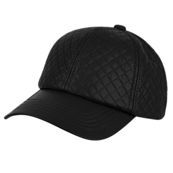 Wholesale Bulk Pack Faux Leather Six Panel Quilted Cap-GDP2188