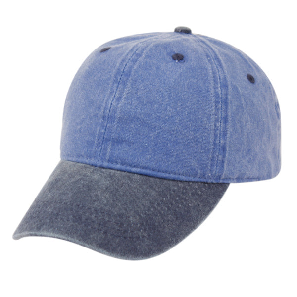 Wholesale Bulk Pack Pigment Dyed Two Tone Washed Cotton Cap-GDP2606