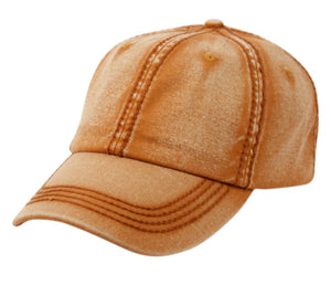 Wholesale Bulk Pack Heavy Stitch Washed Cotton Cap With Strapback-GDP2414