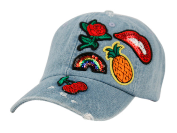 Wholesale Bulk Pack Washed Cotton Baseball Cap With Multi Patch-GDP2395