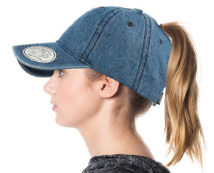 Wholesale Bulk Pack Ponytail Washed Cotton Baseball Cap-GDP2501