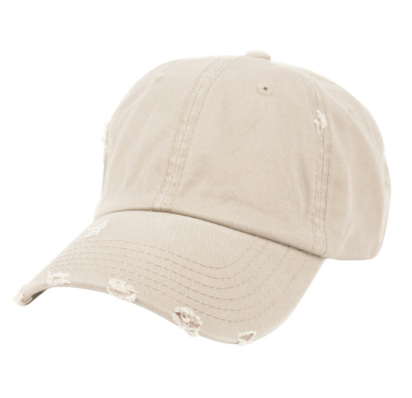 Wholesale Bulk Pack Distressed Washed Cotton Baseball Cap-GDP2455