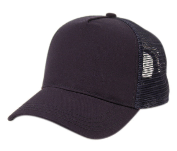 Wholesale Bulk Pack Cotton Canvas Trucker Cap With Mesh-GDP2470