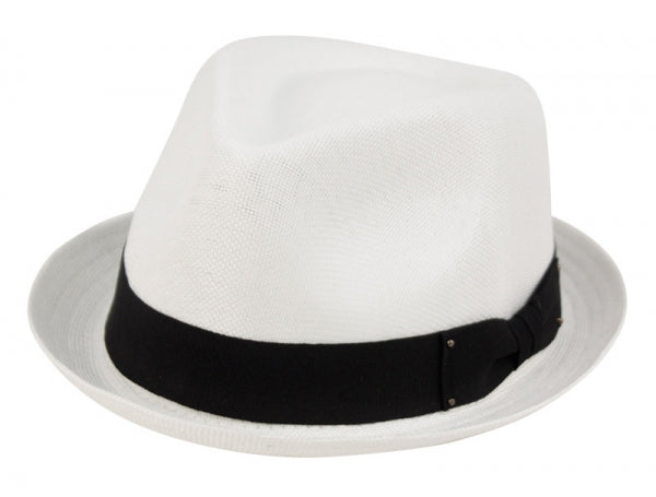 Wholesale Bulk Pack Linen/Cotton Fedora Hats With Grosgrain Band-GDP3351