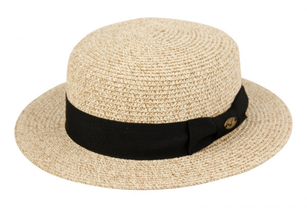 Wholesale Bulk Pack Straw Braid Boater Hats-GDP3378