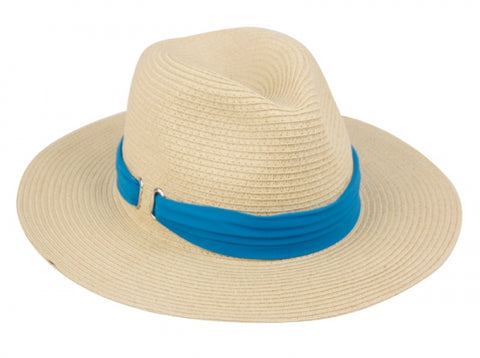 Wholesale Bulk Pack Paper Straw Braid Fedora Hats With Band-GDP3267