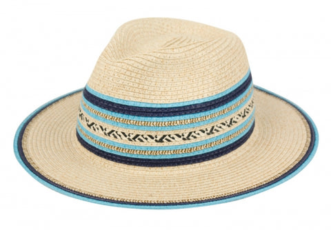 Wholesale Bulk Pack Paper Straw Braid Fedora Hats With Color Edge & Band-GDP3312