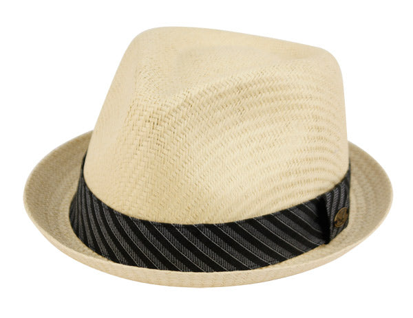 Wholesale Bulk Pack Small Brim Straw Fedora Hats With Fabric Band-GDP3338