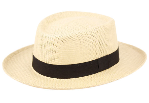 Wholesale Bulk Pack Gambler Style Paper Straw Hats W/Black Band-GDP3264