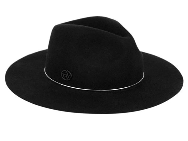 Wholesale Bulk Pack Ladies Wide Brim Felt Fedora W/Metal Tube Band-GDP3588