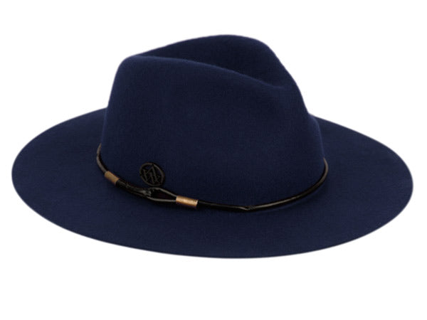 Wholesale Bulk Pack Ladies Wide Brim Felt Fedora W/Thin Round Pu Band-GDP3580