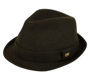 Wholesale Bulk Pack Wool Blend Fedora With Self Fabric Band-GDP3192