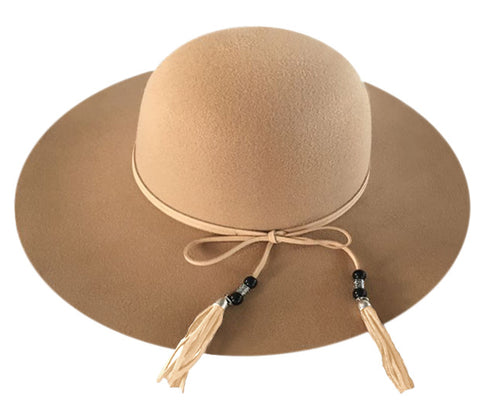 Wholesale Bulk Pack Ladies Polyester Felt Floppy Hat With Faux Leather Band GDF2390