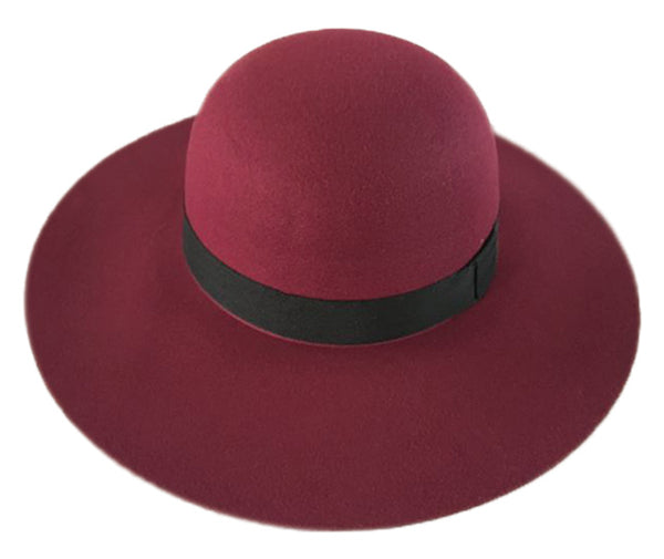 Ladies Polyester Felt Floppy Hat With Grossgrain Band GDF2391