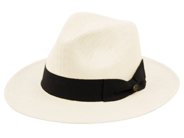 Wholesale Bulk Pack Panama Paper Straw Hats With Grosgrain Band-GDP3328