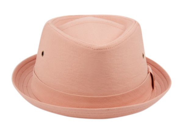 Wholesale Bulk Pack Cotton Fedora Hats W/Self Band-GDP3164