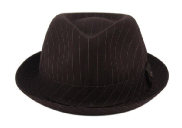 Wholesale Bulk Pack Stripe Fabric Light Weight Fedora With Band-GDP3206