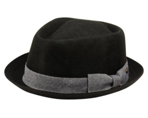 Wholesale Bulk Pack Linen/Cotton Fedora Hats With Band-GDP3181