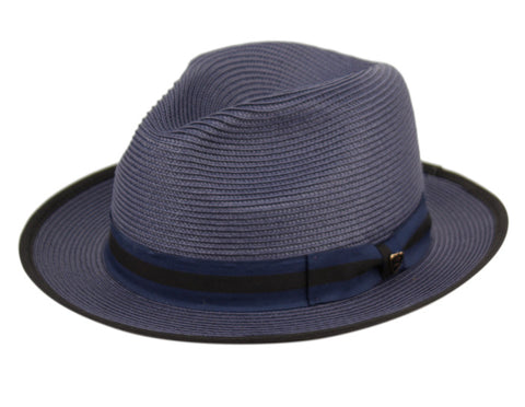 Wholesale Bulk Pack Richman Brothers Polybraid Fedora Hats With Grosgrain Band GDF4006