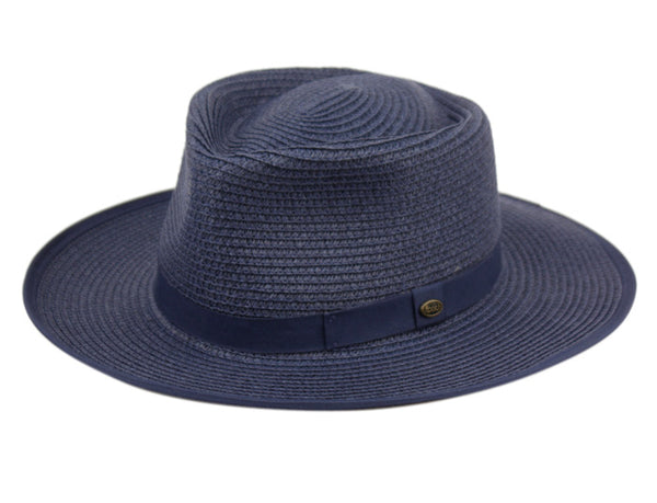 Wholesale Bulk Pack Braid Paper Straw Fedora Hats With Fabric Band GDF4008