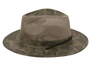 Wholesale Bulk Pack Outdoor Camouflage Safari Hats With Mesh Crown GDF4014