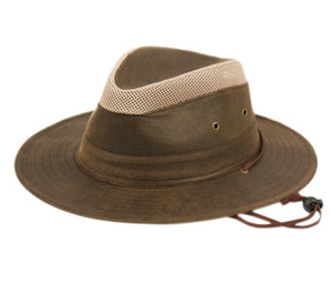 Wholesale Bulk Pack Outdoor Safari Hats W/Partial Mesh Crown GDF4015