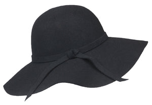 Wholesale Bulk Pack Fashion Felt Hats GDFL1924 Black