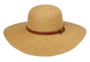 Wholesale Bulk Pack Braid Straw Floppy Hats With Leather Band GDFL2249
