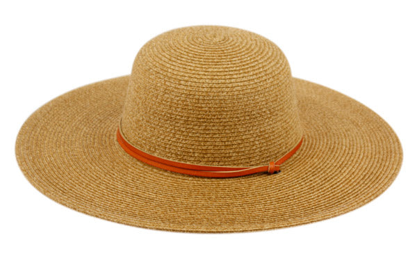 Wholesale Bulk Pack Braid Straw Floppy Hats With Leather Band GDFL2403