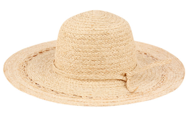 Wholesale Bulk Pack Raffia Straw Floppy Hats With Self Band GDFL2732